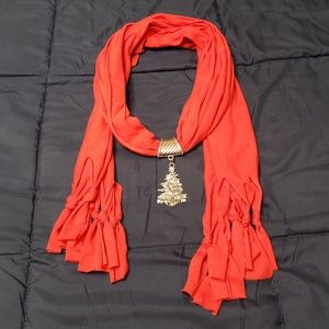 Accessories - Red Christmas Scarf
